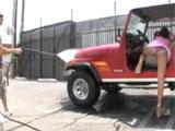 Calentando al chico del lavadero de coches