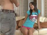 Audición porno a una atrevida joven