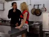 La dueña del restaurante y el jefe de cocina