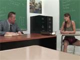 A solas en el aula con el profesor