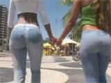 Follando dos culos brasileños