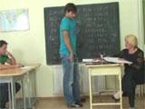 La madura profesora y dos de sus alumnos