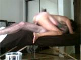 Grabados follando en la mesa de masaje