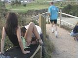 Orgia al aire libre en un parque de La Coruña