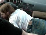 Una mamada mientras el novio conduce