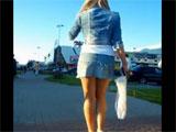 Seguimos a una jovencita por la calle