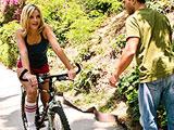 El culo de la chica de la bici del parque