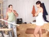 El carpintero y la señora de la casa