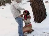 Calenton en la nieve, con el frio que hace !!
