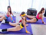 Tres jovencitas viciosas, sexo en el gimnasio