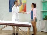 Mischa Brooks intimando con el masajista