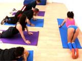 El culo de la profesora de yoga