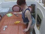 Las tetas de la chica de la limpieza