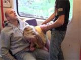 Echando un polvo en el metro