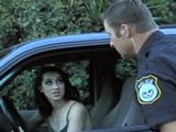 El agente la ha pillado sin cinturón de seguridad