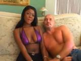 Sexo interracial con una negra
