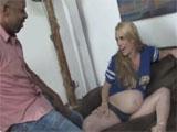 Cachonda embarazada con ganas de rabo negro