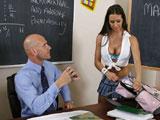 Sexo en clase con el profesor de matematicas