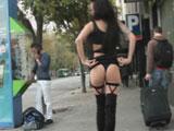 Raquel buscando sexo por las calles de Madrid